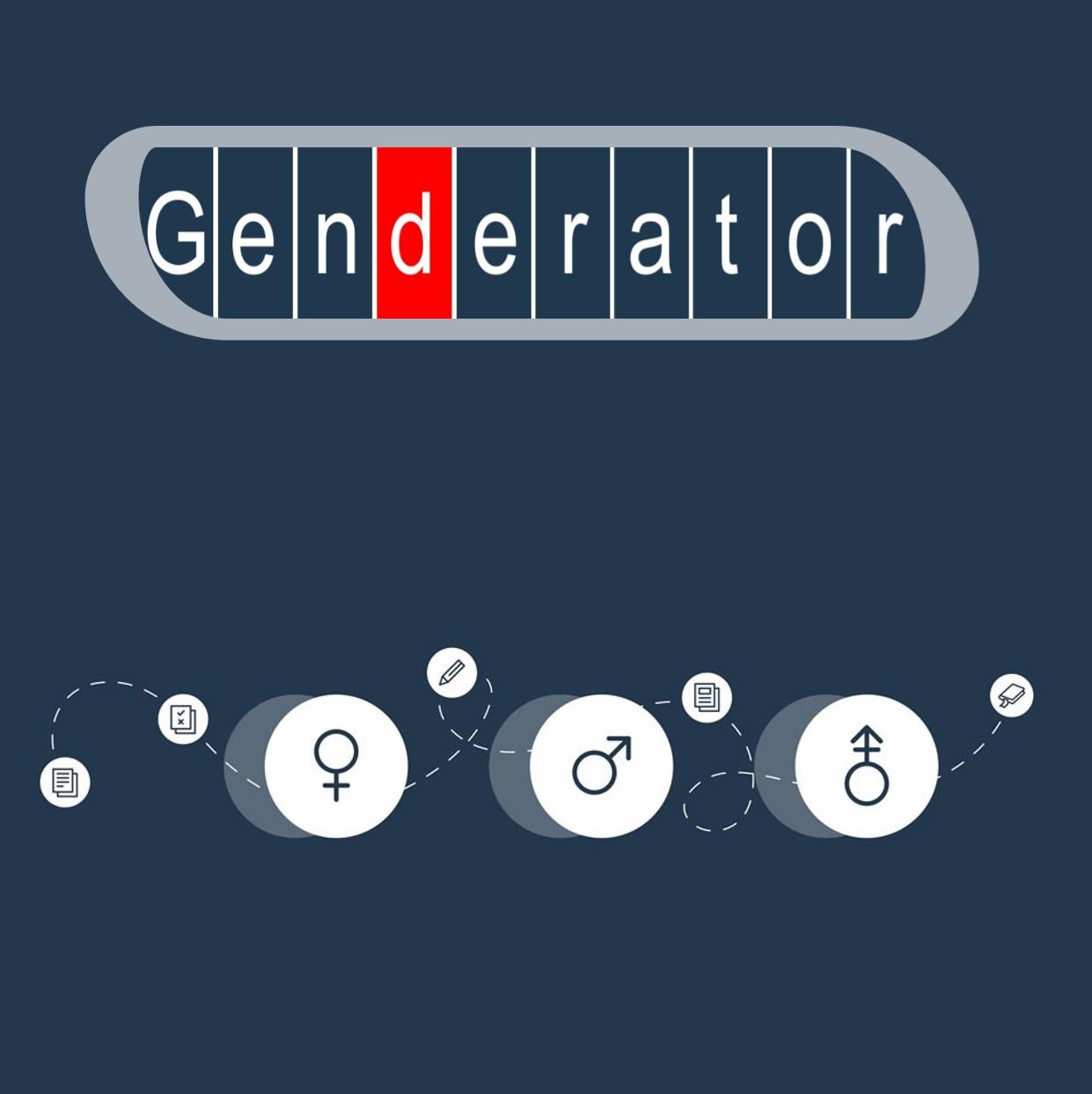 Logo Genderator sowie Symbole für